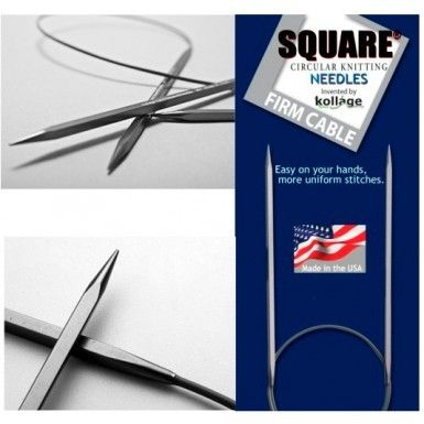 Kollage USA Square Circular Firm Cable Knitting Needles Paradise Fibers