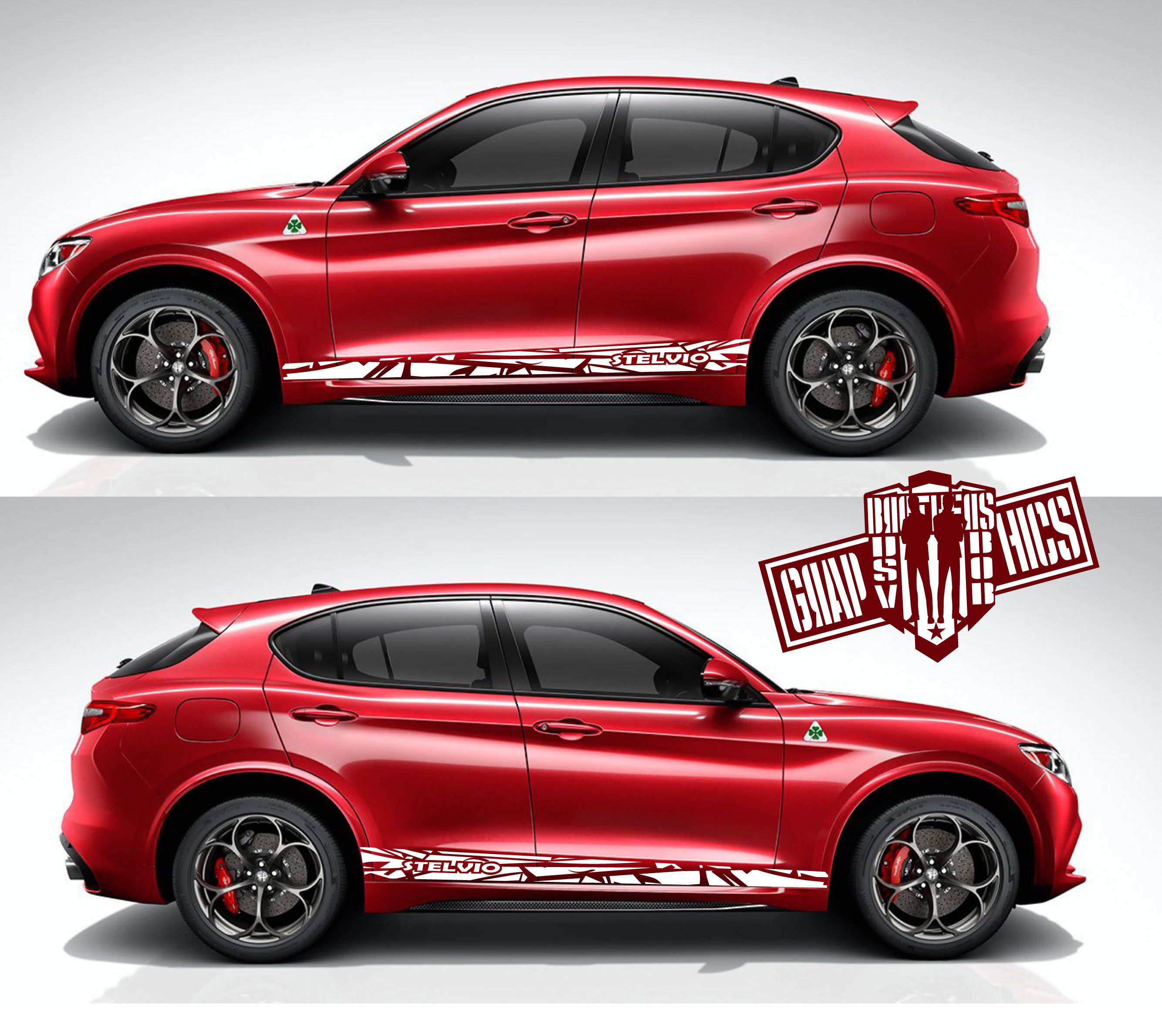 Decal Sticker Vinyl Sport Kit Compatible With Alfa Romeo