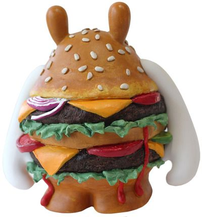 'Dudeburger!' by Pocketwookie. Custom 'The Dude' from what appears to be the now defunct Dudebox. Gotta say this hamburger makes me want some In & Out burgers.