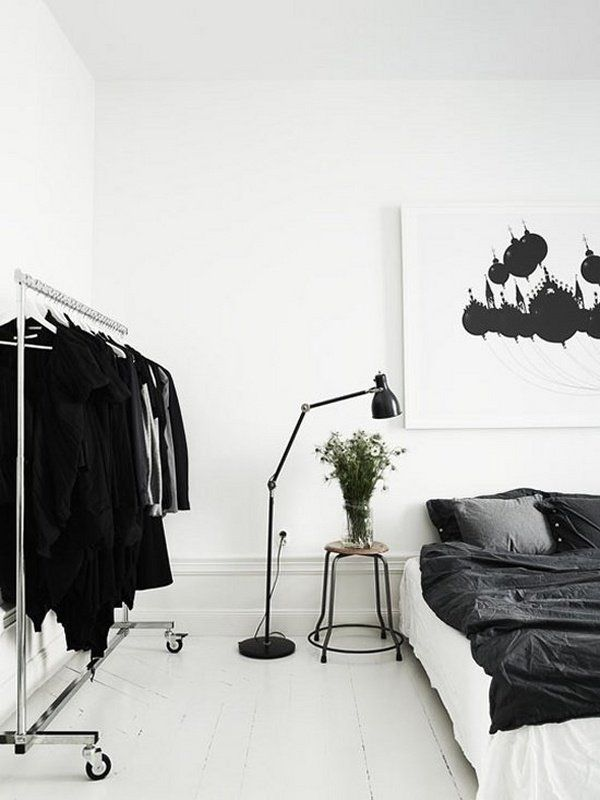 Minimalist Bachelor Bedroom Ideas Black White Interior Design Modern