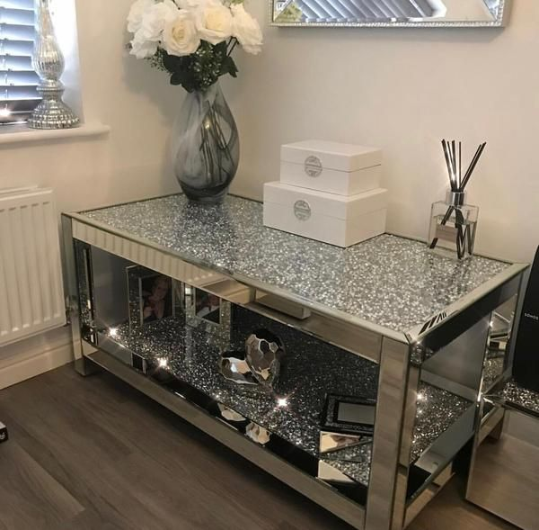 The Diamond Crush 2 Tier Coffee Table features two ...