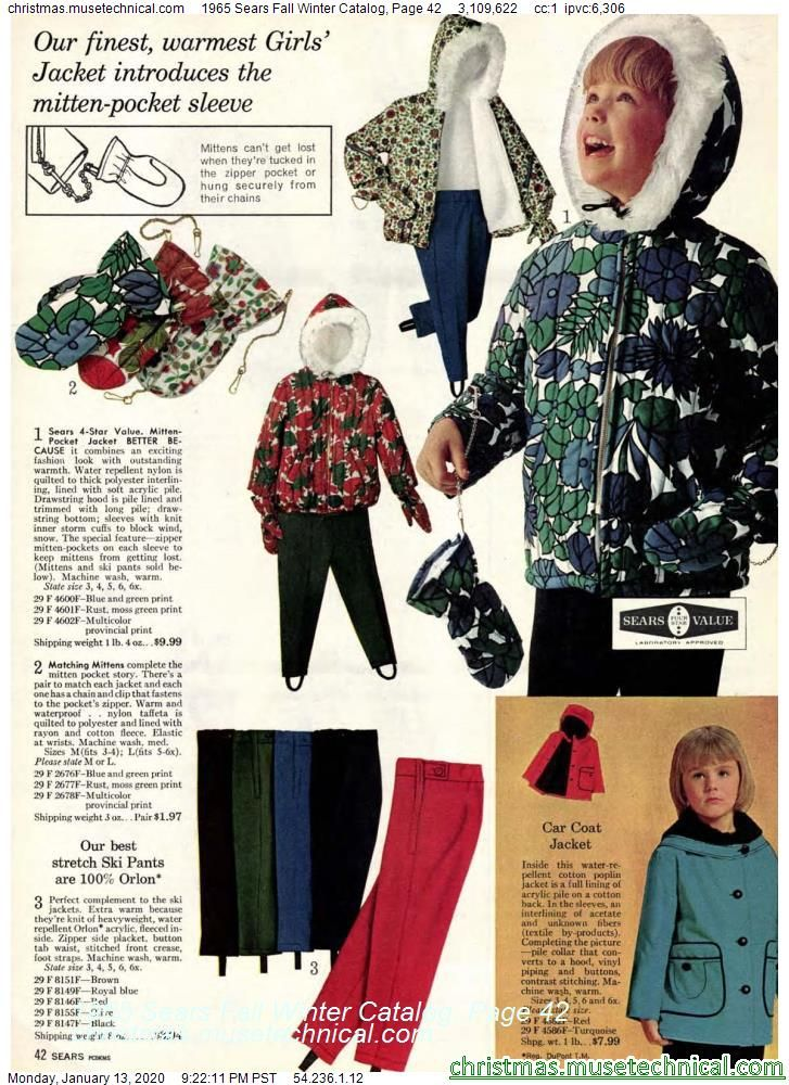 1965 Sears Fall Winter Catalog, Page 42 - Christmas ...