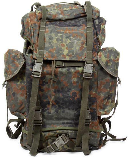 63a32658a BW combat rucksack, Flecktarn, surplus Plate Carrier, Bushcraft, Camouflage,  German Army