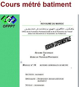 Cours Notions Generales De Metre Batiment Destine Pour Technicien Dessinateur De Batiment Construction Documents Genies How To Plan