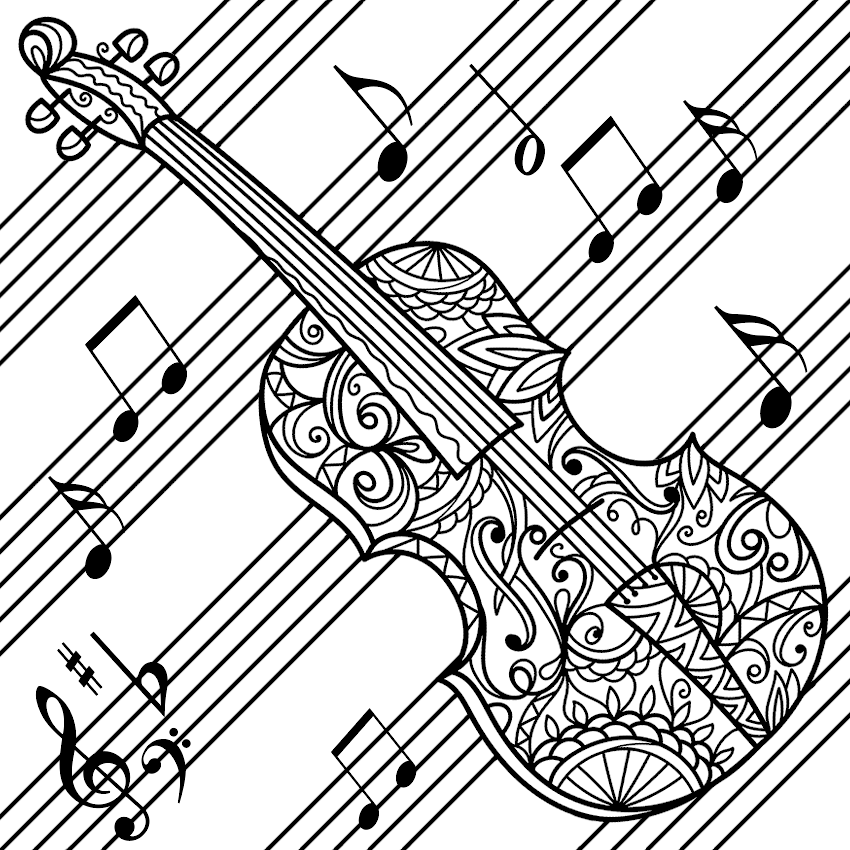 Pin By Coloring Pages For Adults On Coloring Music Music Coloring Coloring Pages Clip Art