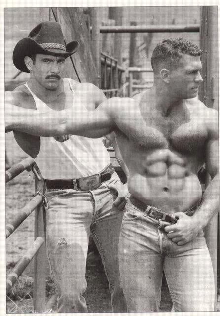 Vintage Beefcake Cowboys, C 1970S  Coppy  Cowboys Men, Vintage Men, Men-1425