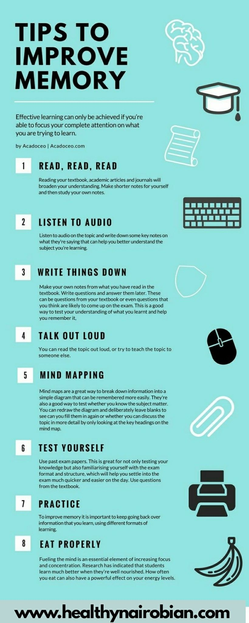 How You Can Improve Your Memory How To Focus Better School Study Tips Study Tips