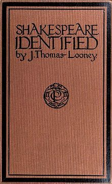 Oxfordian theory of Shakespeare authorship - Wikipedia, the free encyclopedia