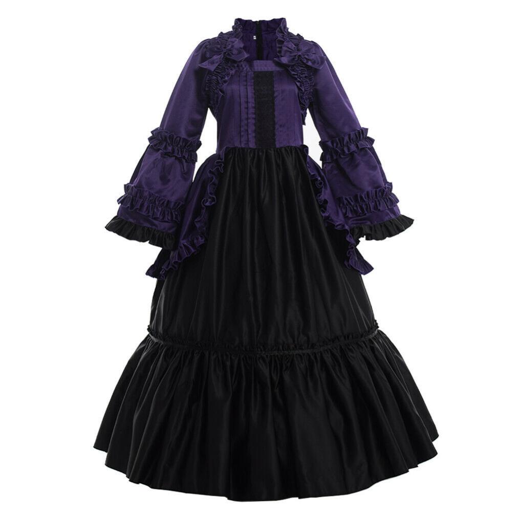 Gothic Reenactment Party Cosutme Dress Vintage Victorian Puff Sleeve Ball Gown Ebay Kleider Fur Balle Mittelalter Kleid Ballkleid [ 1000 x 1000 Pixel ]