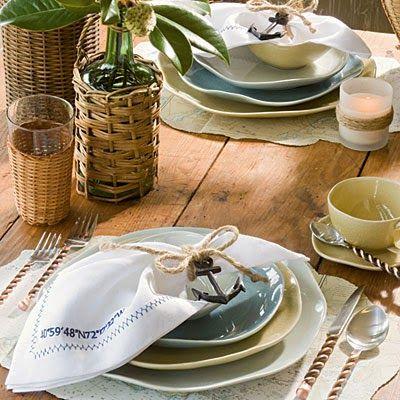 Coastal Living Thanksgiving tablescape