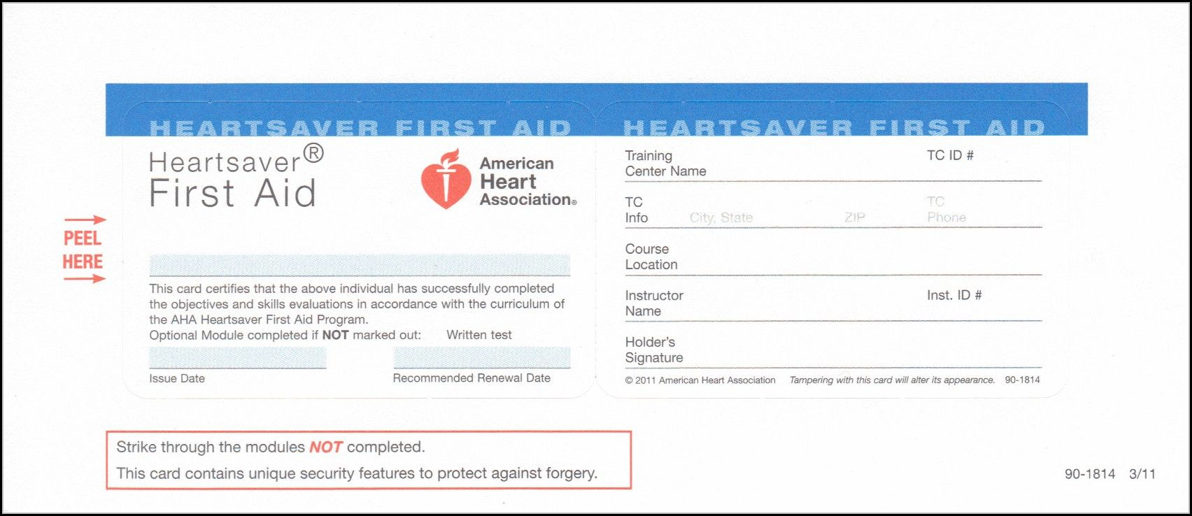 Heartsaver First Aid Cpr Aed Card Template Template 1 For Cpr Card Template Cumed Org First Aid Cpr Cpr Card Card Template