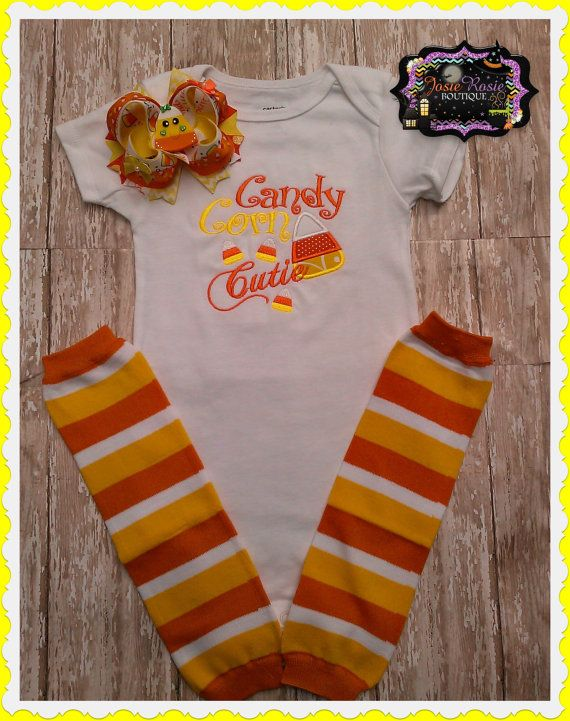 Hey, I found this really awesome Etsy listing at http://www.etsy.com/listing/160613065/candy-corn-cutie-embroidered-shirt-set