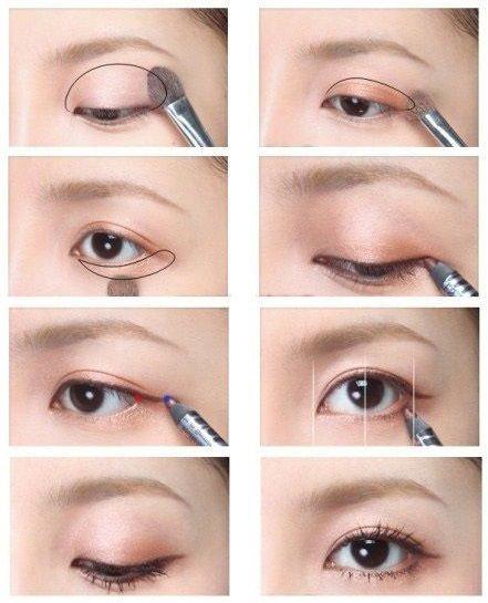 Korean Eye Makeup For Monolid And Double Eyelid Korean Eye Makeup Eye Makeup Korean Makeup Tutorials