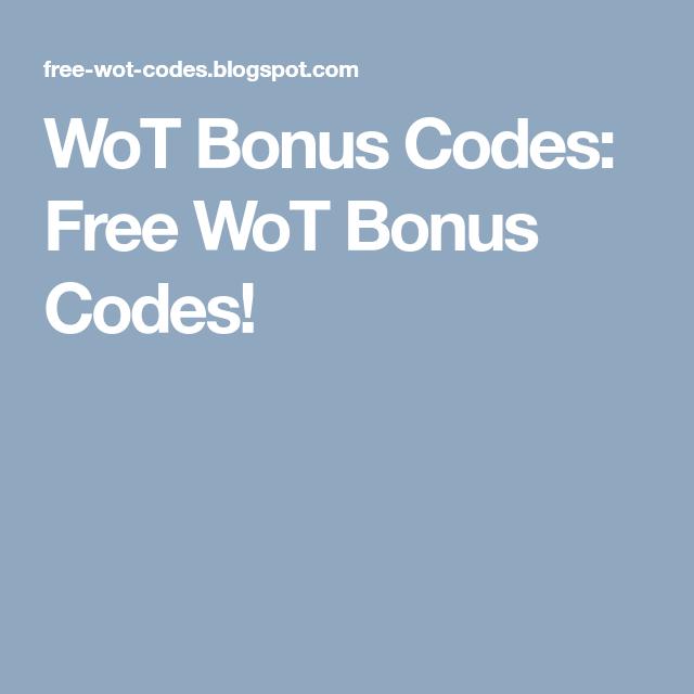 WoT Bonus Codes: Free WoT Bonus Codes! | Wot | Coding, Free