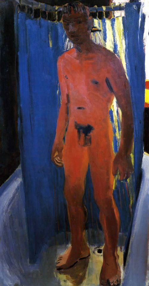 "David Park - ""Standing Male Nude in Shower"""