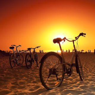 Bicycles on the beach.....