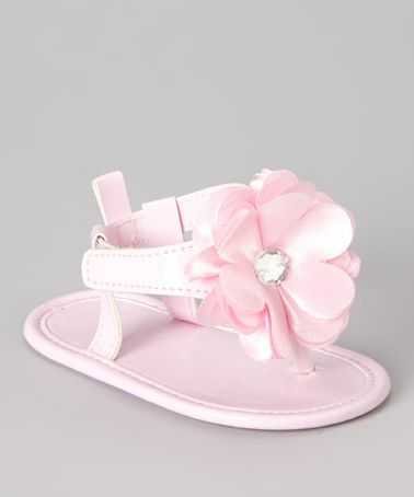 This Pink Flower Patent Sandal by Laura Ashley is perfect! #zulilyfinds