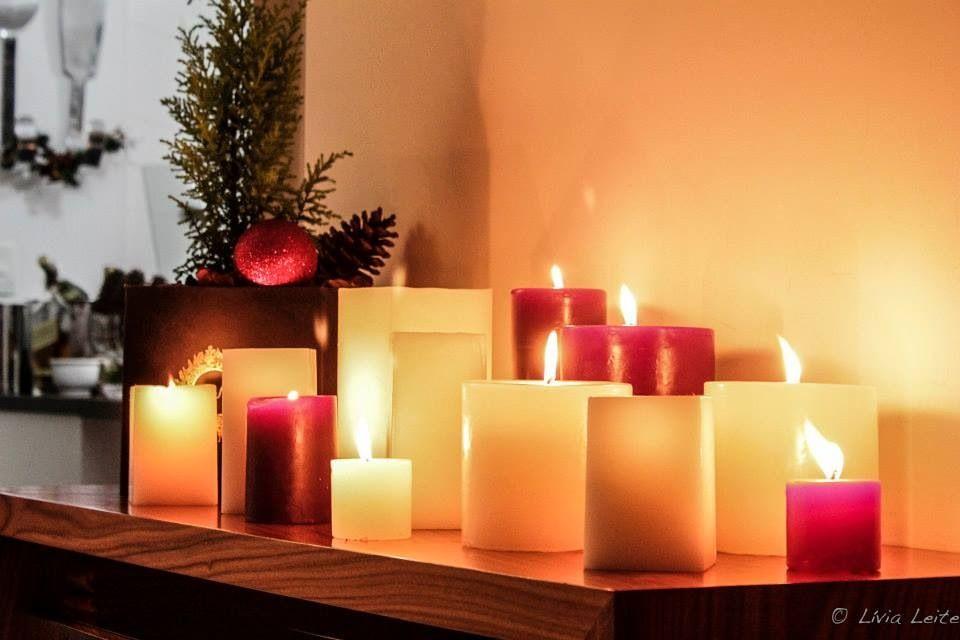 Velas para a ceia de Natal