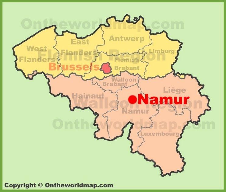 Namur location on the Belgium Map Maps Pinterest Belgium map