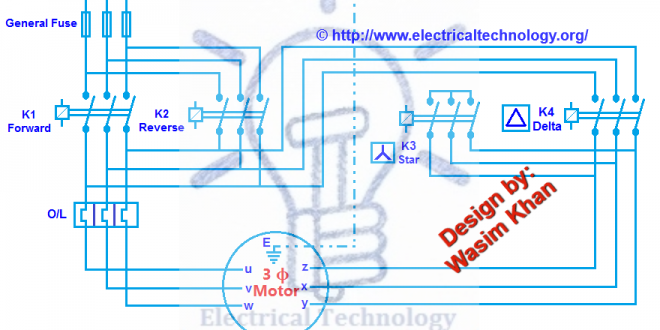 Three Phase Motor Connection Star Delta Y D Reverse Forward With Timer Power Control Diagram Electrical Technology Diagram Electrical Diagram Electrical Projects