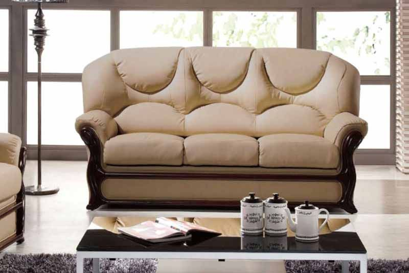 Leather Sofa Tuoqiao Wood Italian Leather Sofa Furniture Leather Sofa