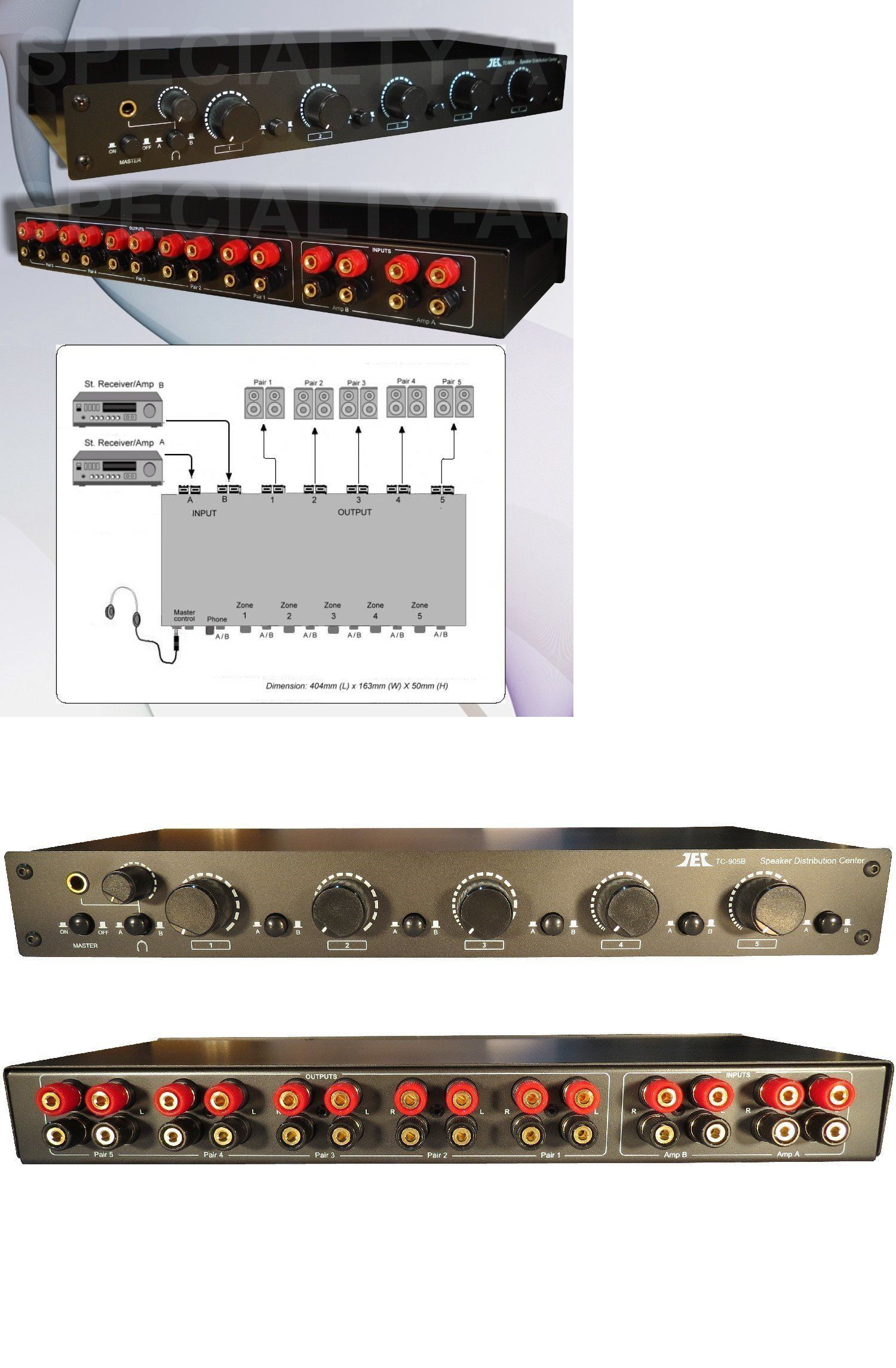 Splitters And Combiners 25 Commercial Grade Speaker Selector How To Wire A Volume Switch Control Accepts 12gauge