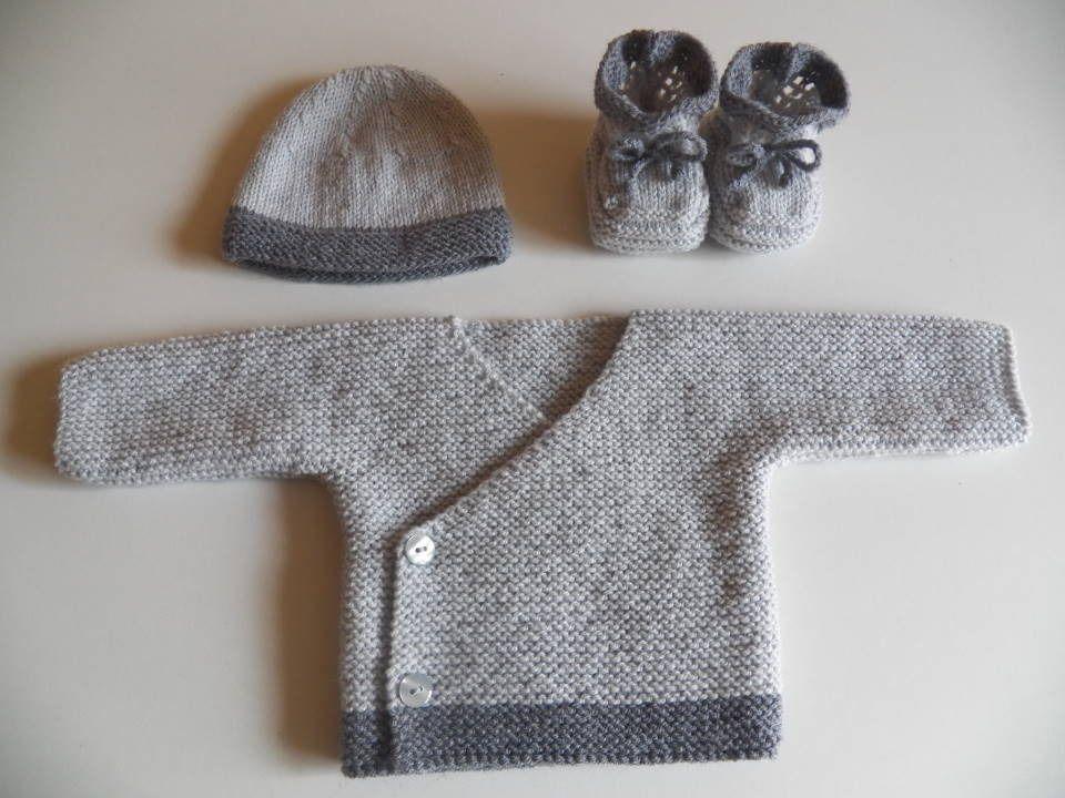 a26a280de8e86 Brassière Bonnet Chaussons bébé en laine Naissance Petit Poids 2.5kg   Mode  Bébé par babylaine