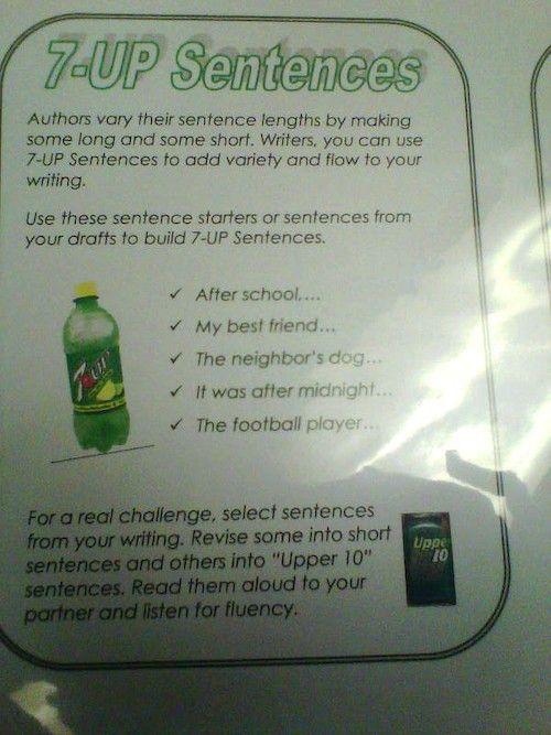 7 up sentences students write sentences using seven words or more 7 up sentences students write sentences using seven words or more to add more detail and variety to their writing ccuart Images
