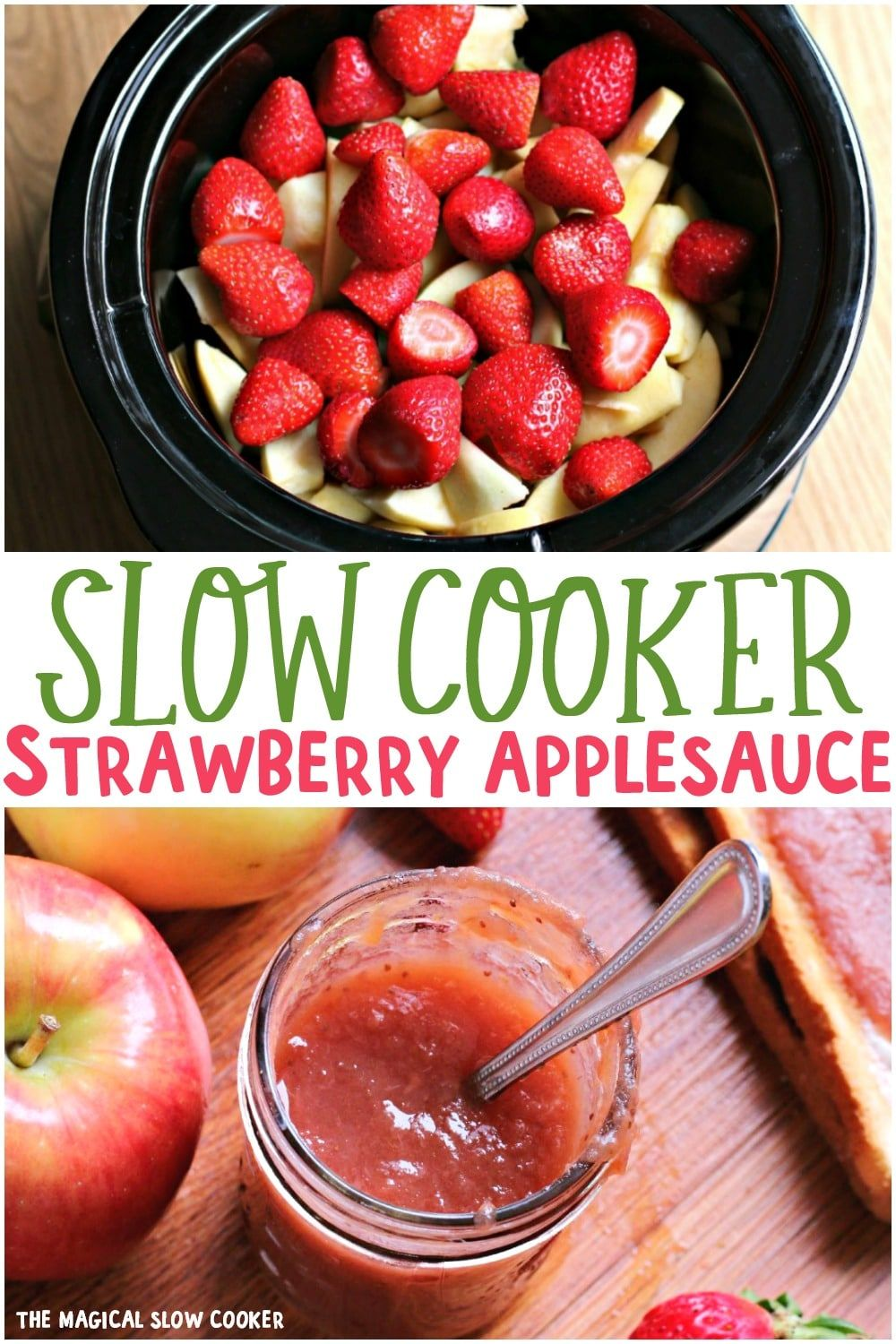 Photo of Slow Cooker Strawberry Applesauce – The Magical Slow Cooker