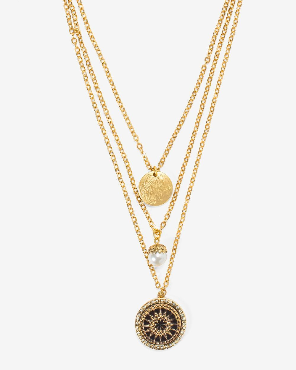 Womenus antiqued pearl multistrand short necklace by whbm elegant