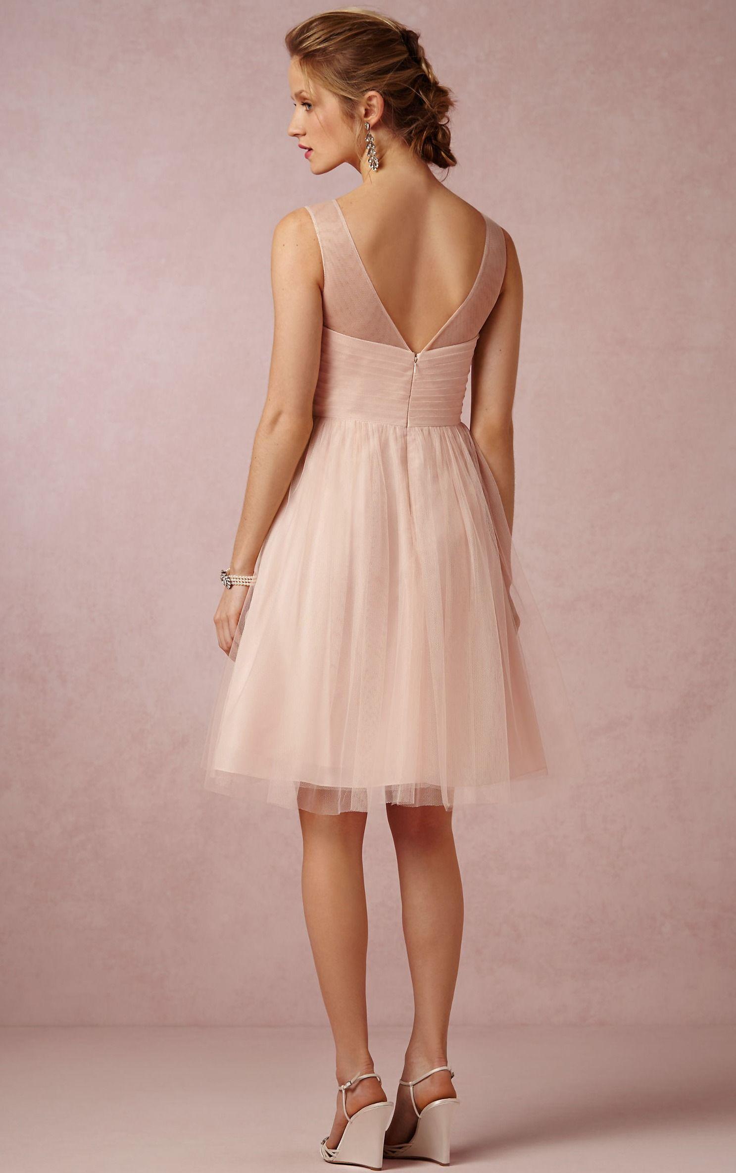 Bridesmaid Dresses,Pearl Pink Bridesmaid Dresses,Zipper A-line Knee ...