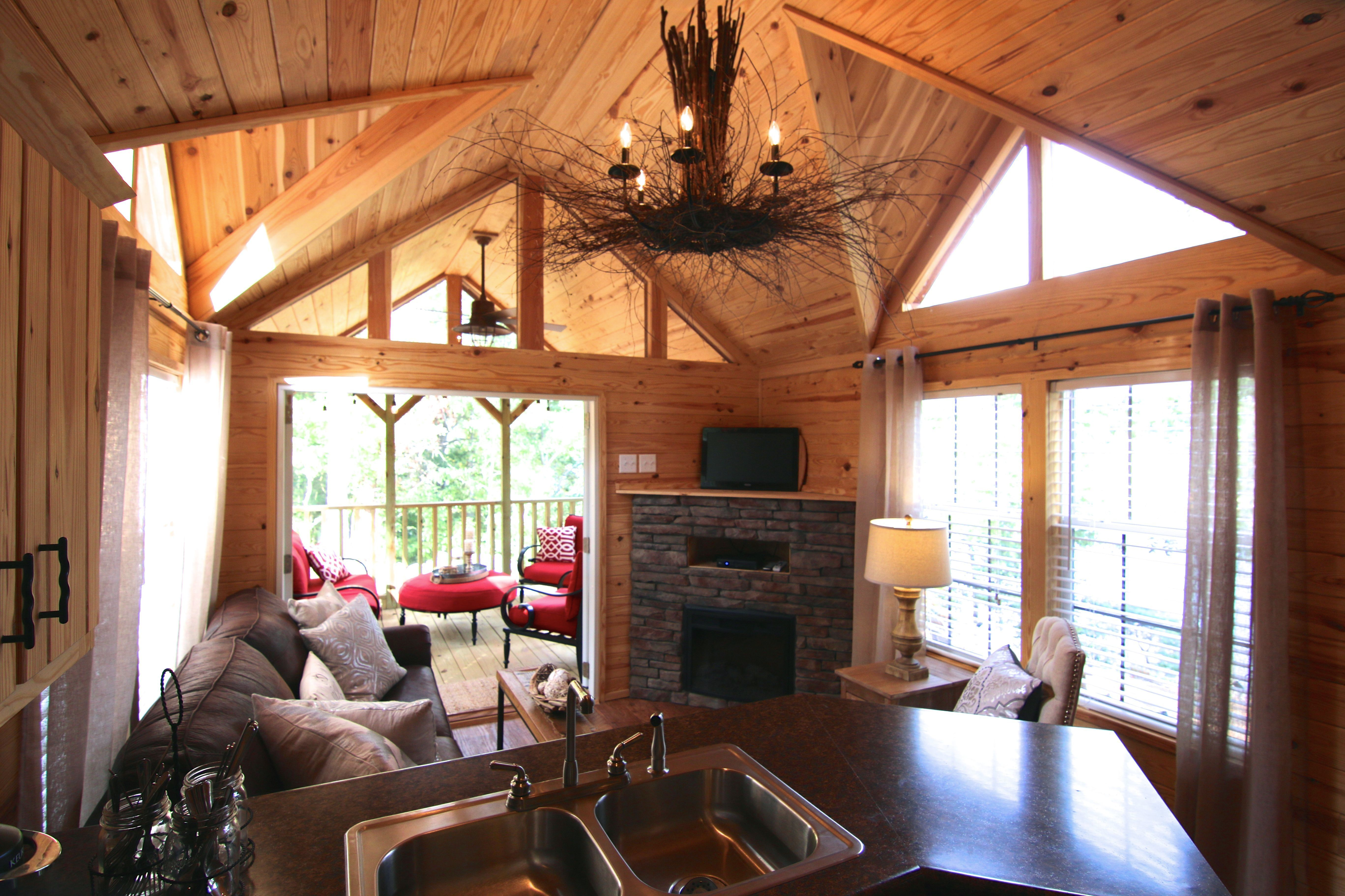 A Park Model Cabin Built By Rustic River Park Homes In