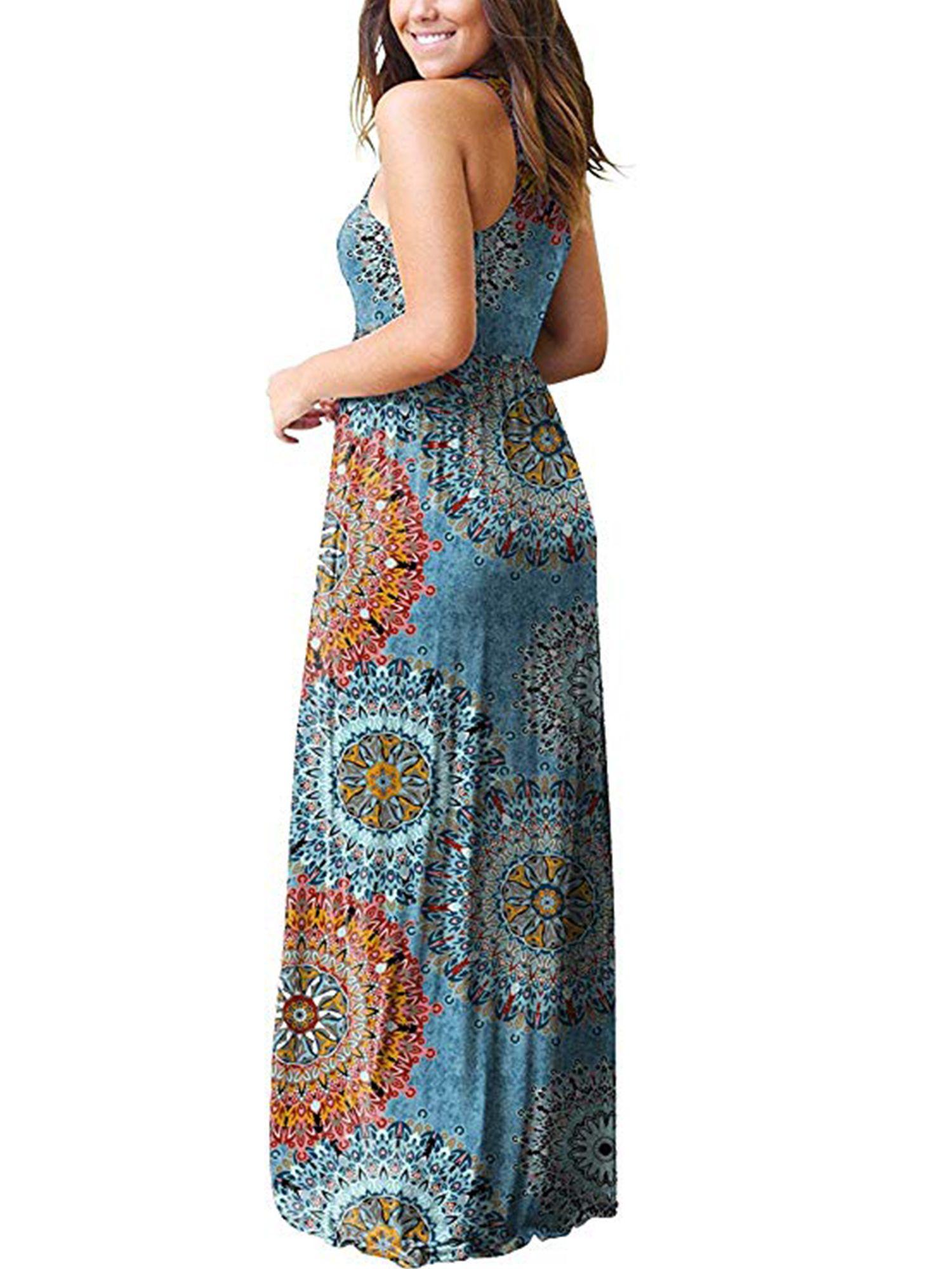 Floral Cocktail Loose Womens Maxi women/'s Dress Long sundress V Neck Fashion