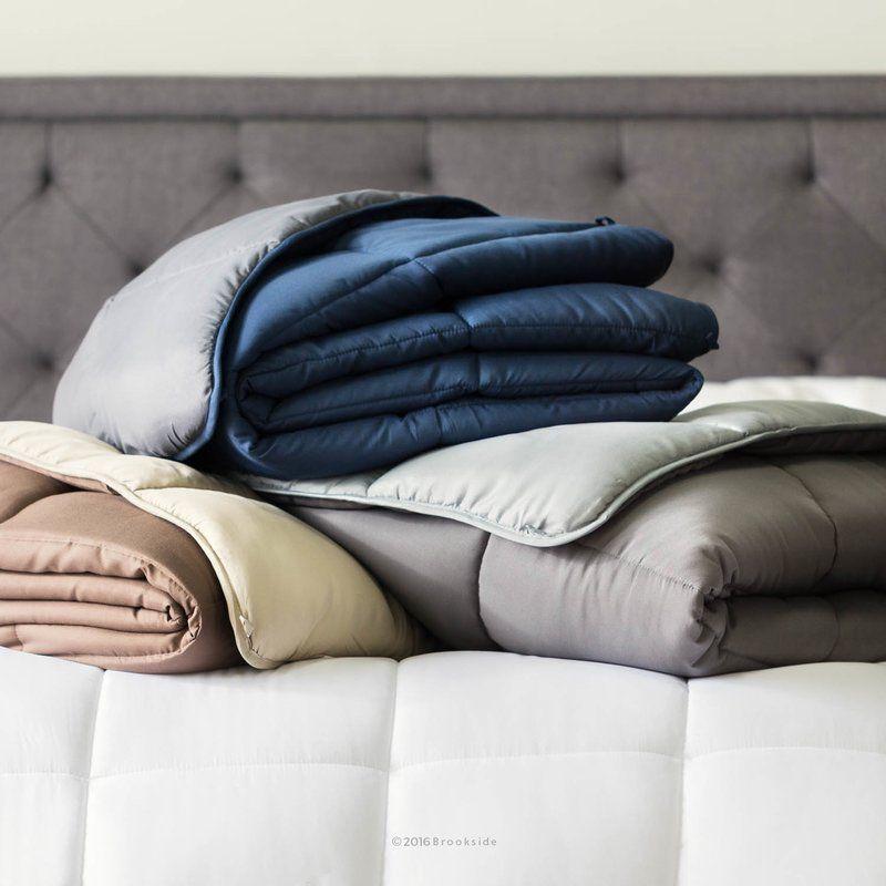 Siobhan Single Reversible All Season Down Comforter Fluffy
