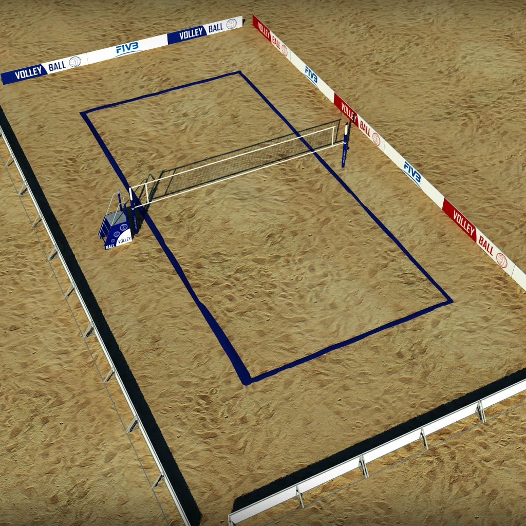 Beach Volleyball Court Low Poly Decoracao De Loft Tenis De Praia De Praia