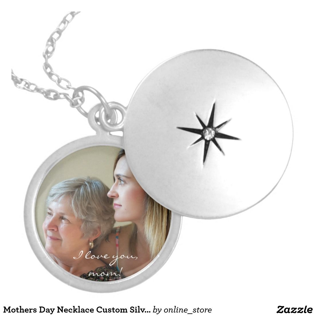 Mothers Day Necklace Custom Silver Plated Locket