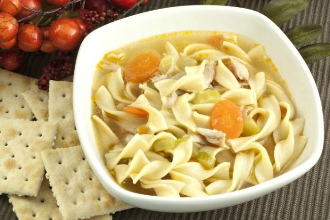 Slow Cooker Vegetable Noodle Soup - Delicious, and HEALTHY!  www.GetCrocked.com