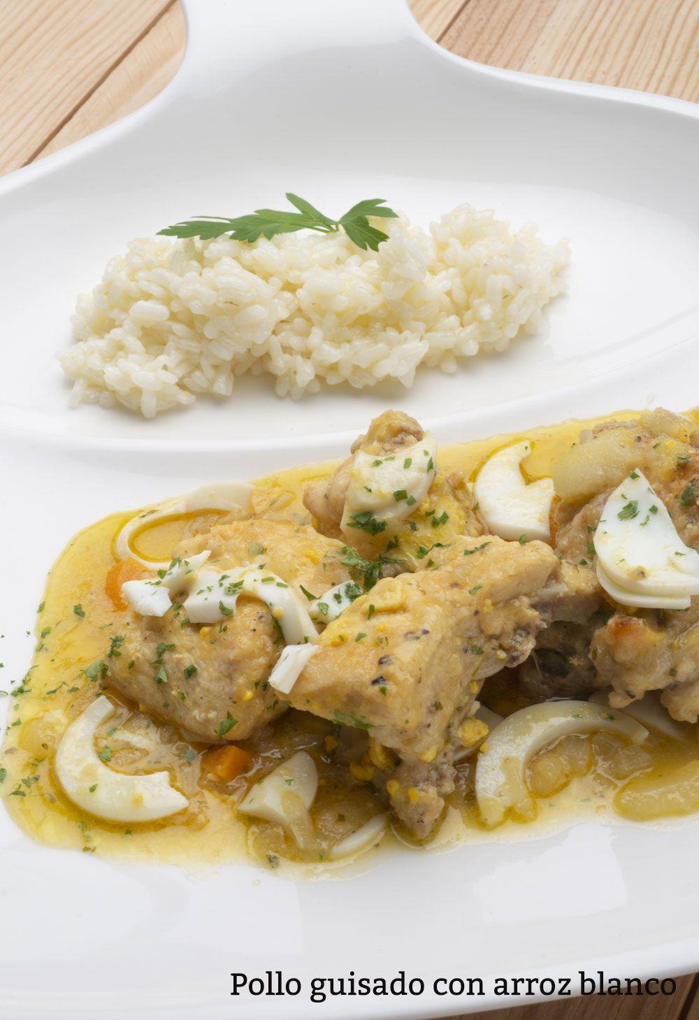 Receta de Pollo guisado con arroz blanco - Karlos Arguiñano #recetas ...