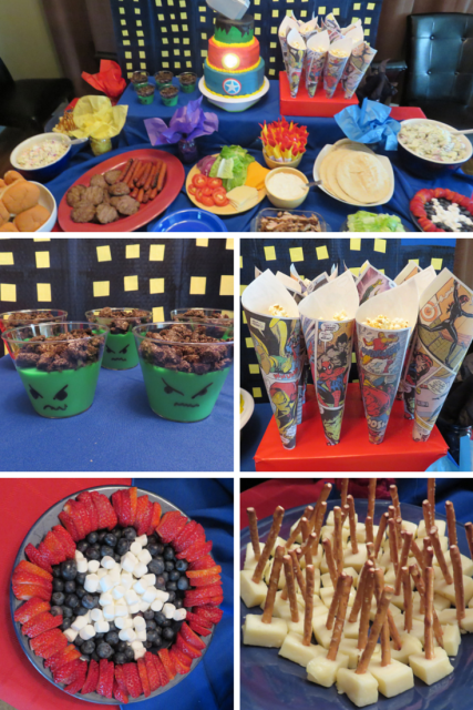 Avengers Birthday Party Food MyPaintingShirtcom Pinteres
