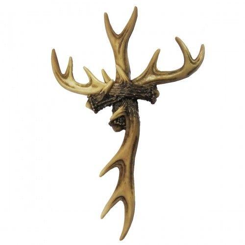 antler cross western wall cross pinterest antlers tattoo and tatting. Black Bedroom Furniture Sets. Home Design Ideas