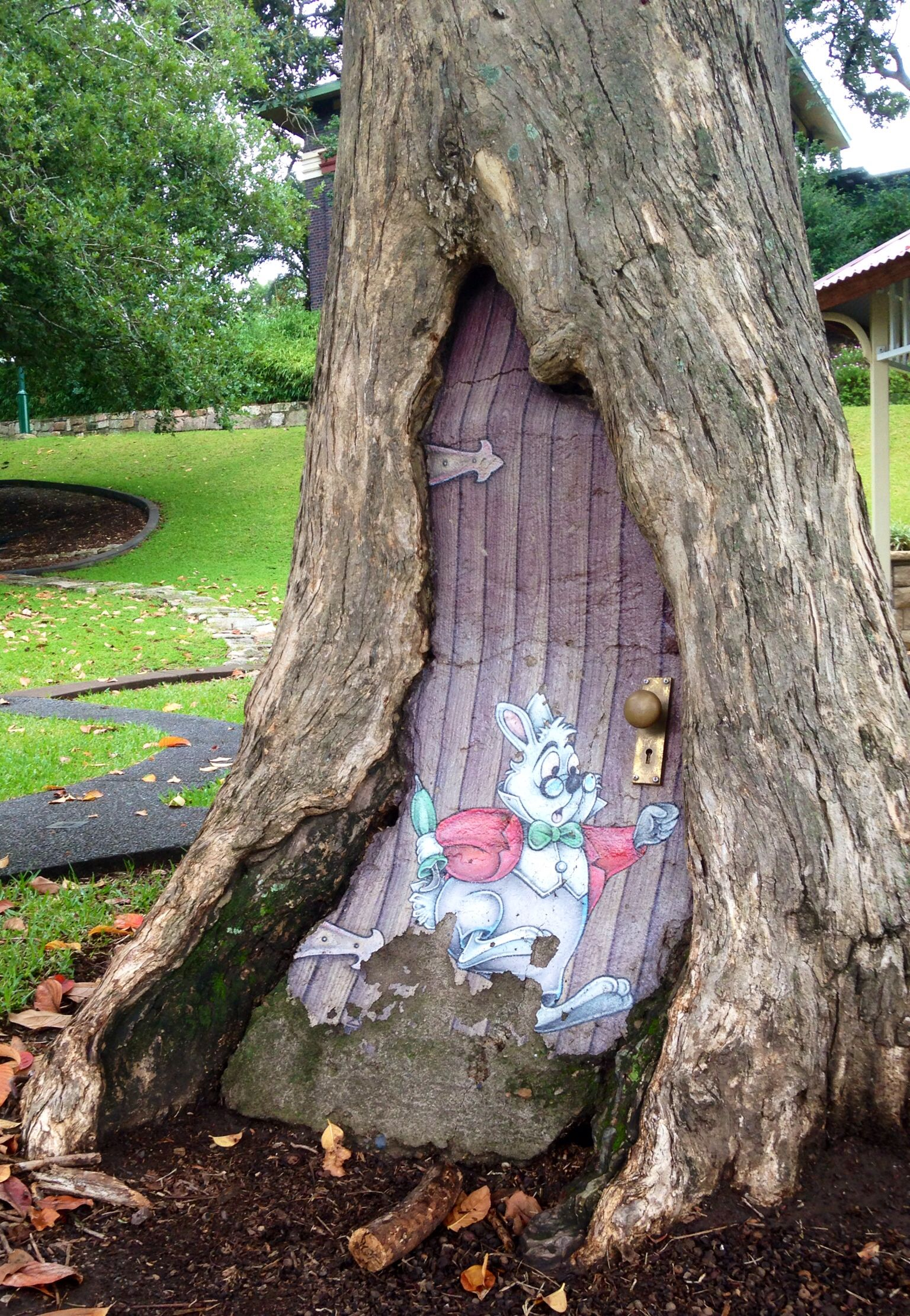 alice in wonderland great idea except for the bunny drawing make it more real beautiful. Black Bedroom Furniture Sets. Home Design Ideas