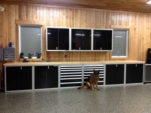 Black Moduline Aluminum Garage Storage Cabinets Pinterest And