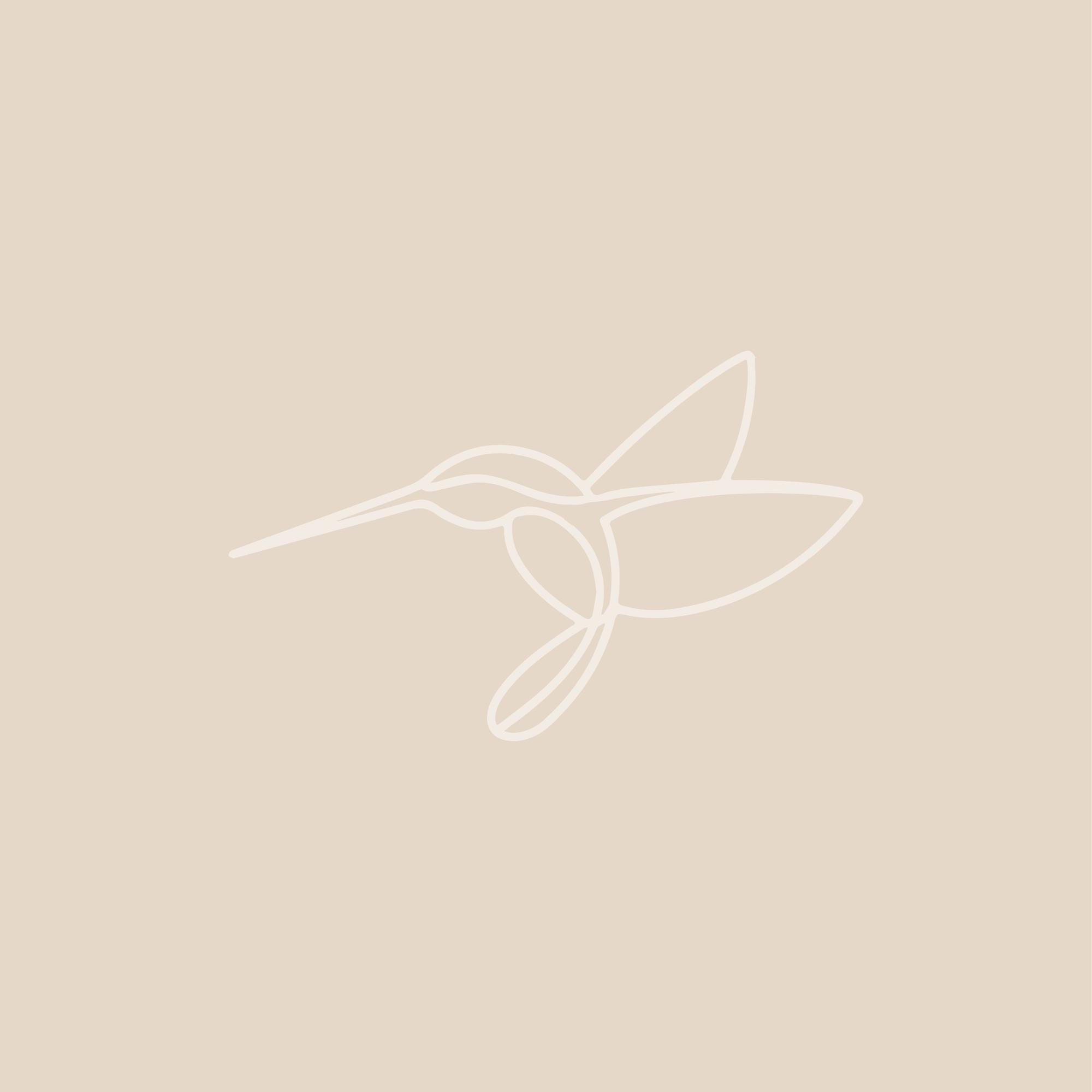 Hummingbird logo icon for personal brand by Amari Creative