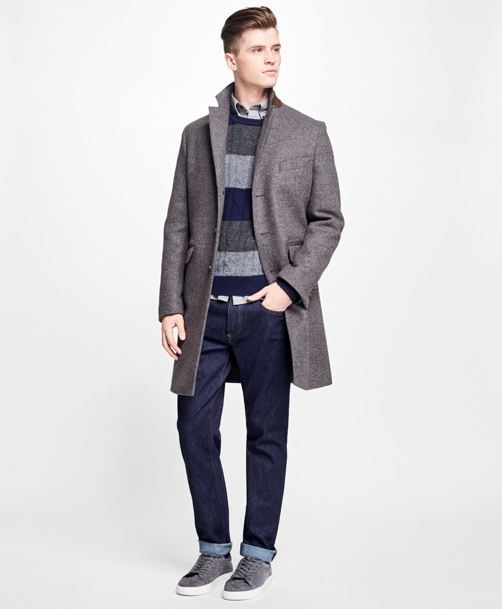 0a6550ccf Double-Faced Wool-Blend Topcoat - Brooks Brothers   Coats ...