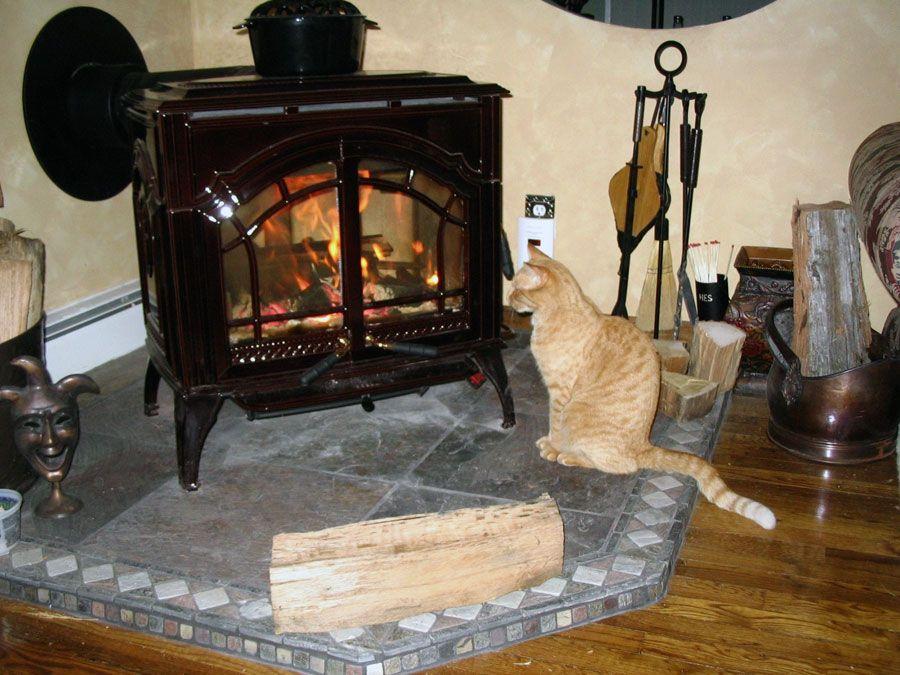 Quadra-Fire Wood Stove In Brown Enamel Wood Stoves Pinterest - Quadrafire Wood Stove WB Designs