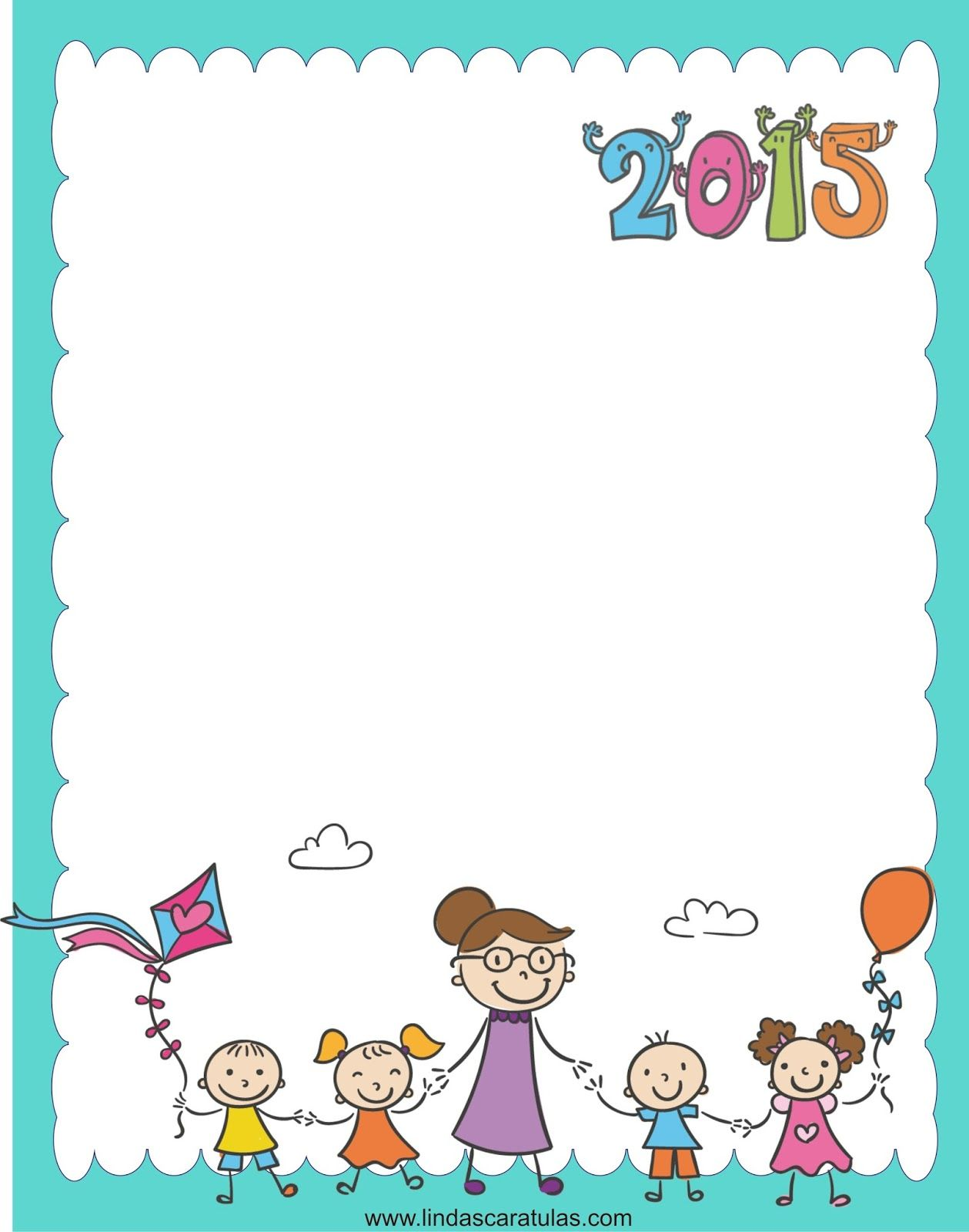 Borders for kid regreso al colegio 2015 ni os for Sticker decorativos para ninos