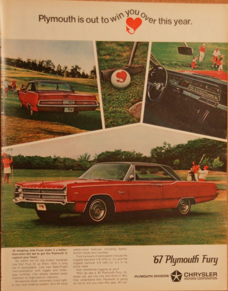 1967 plymouth fury vintage 10x13 original car ad anteekads1967 plymouth fury vintage 10x13 original car ad