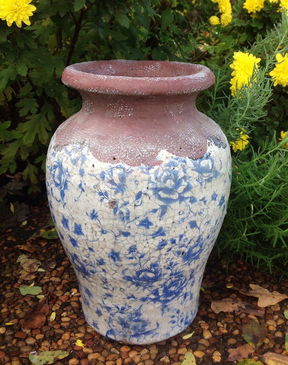 Vintage Blue And White Ceramic Vase Pinterest Dried Flower