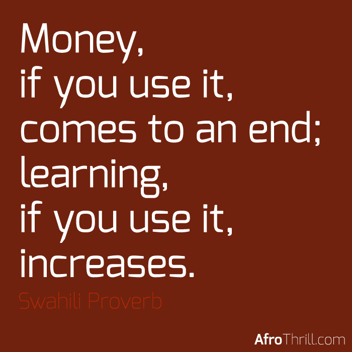 African Proverb – Swahili