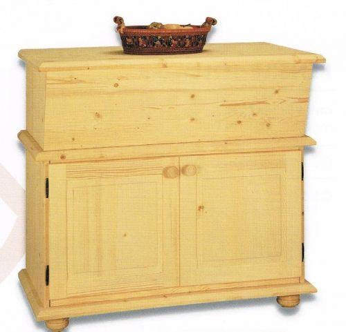 madia credenza italiana in abete massello legno grezzo